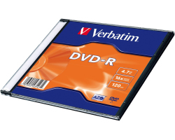DVD-R Verbatim 4.7GB 16× Matt Silver Single pack Slimcase